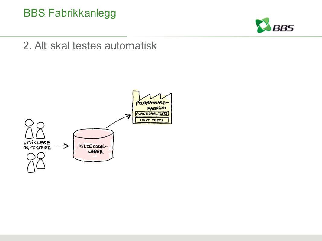 BBS Fabrikkanlegg 2. Alt skal testes automatisk