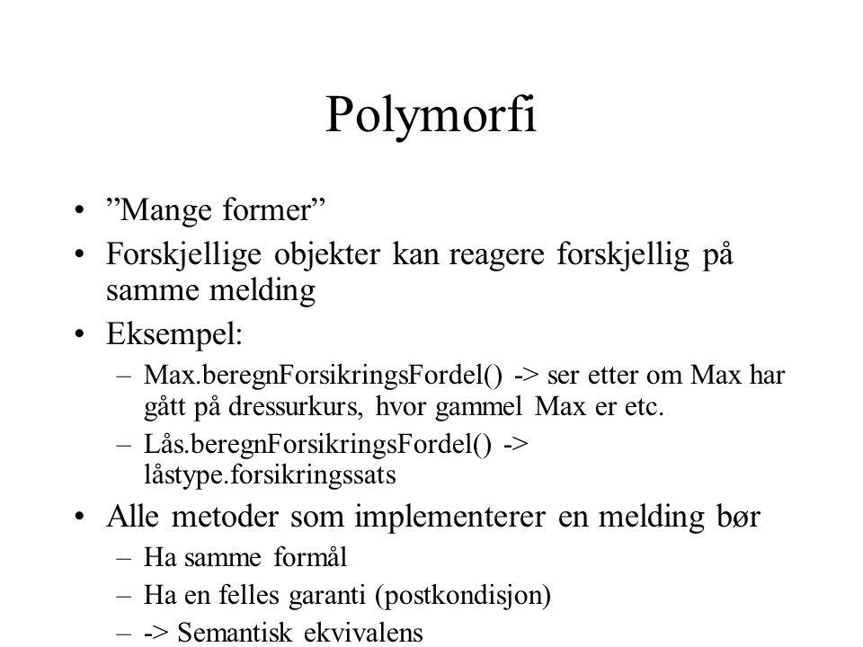 Polymorfi Mange former