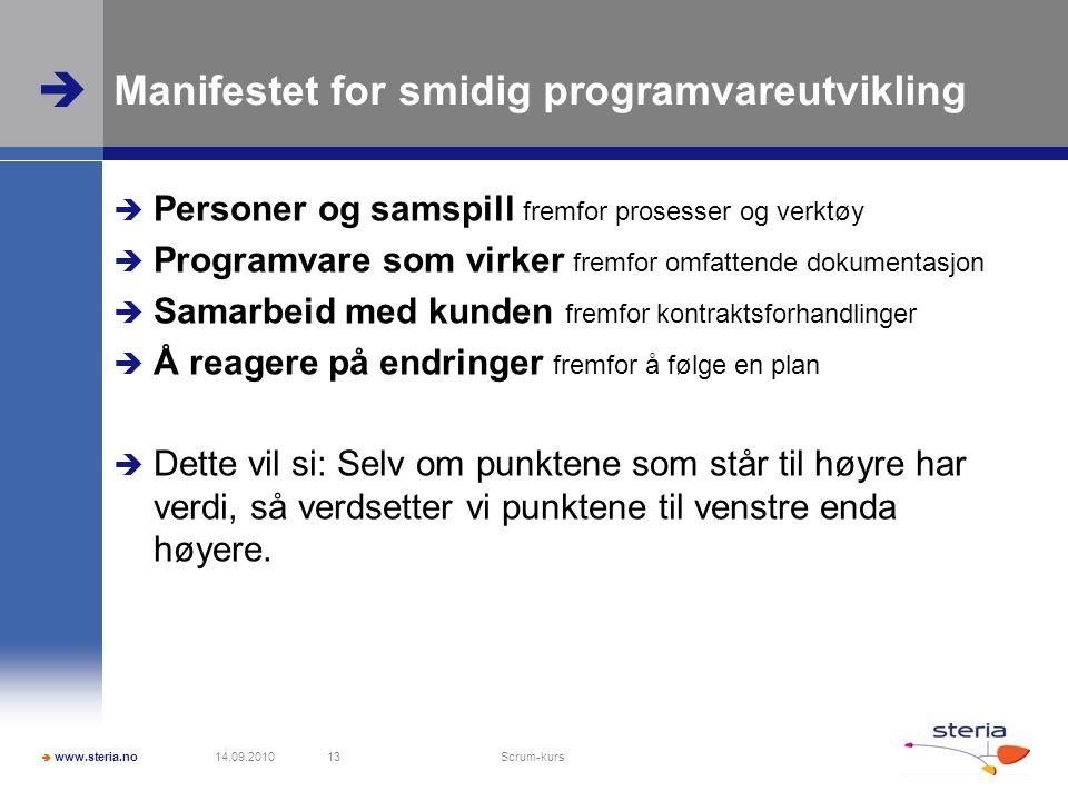 Manifestet for smidig programvareutvikling