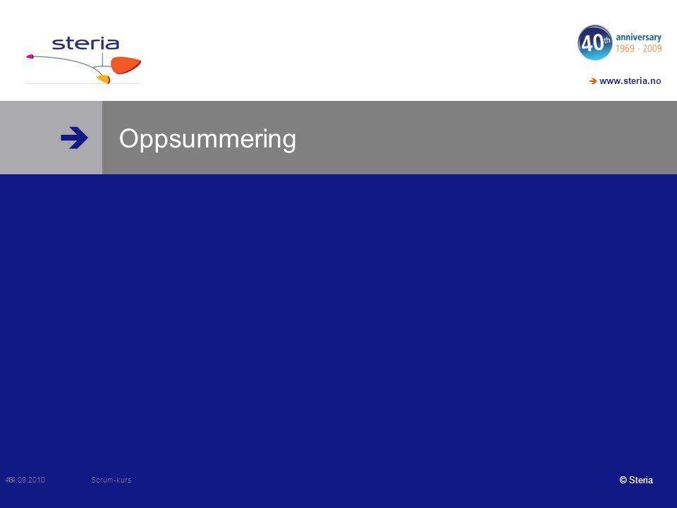 Oppsummering Scrum-kurs 14.09.2010