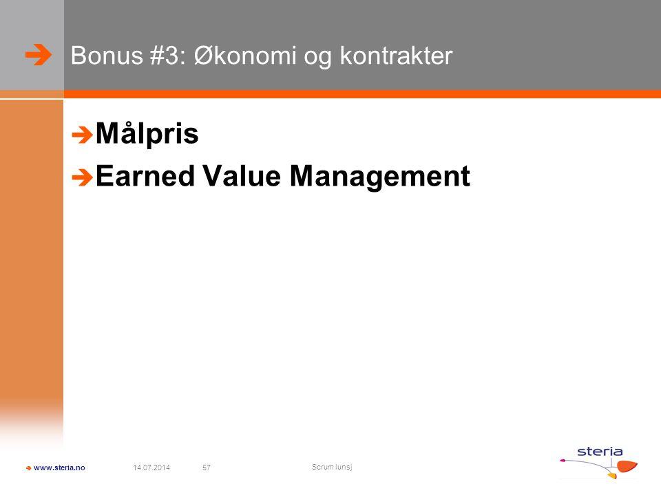Bonus #3: Økonomi og kontrakter