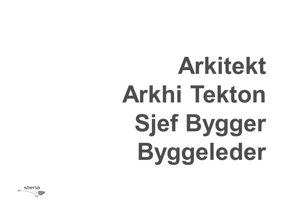 Arkitekt Arkhi Tekton Sjef Bygger Byggeleder