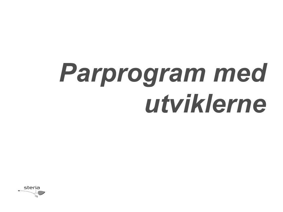 Parprogram med utviklerne