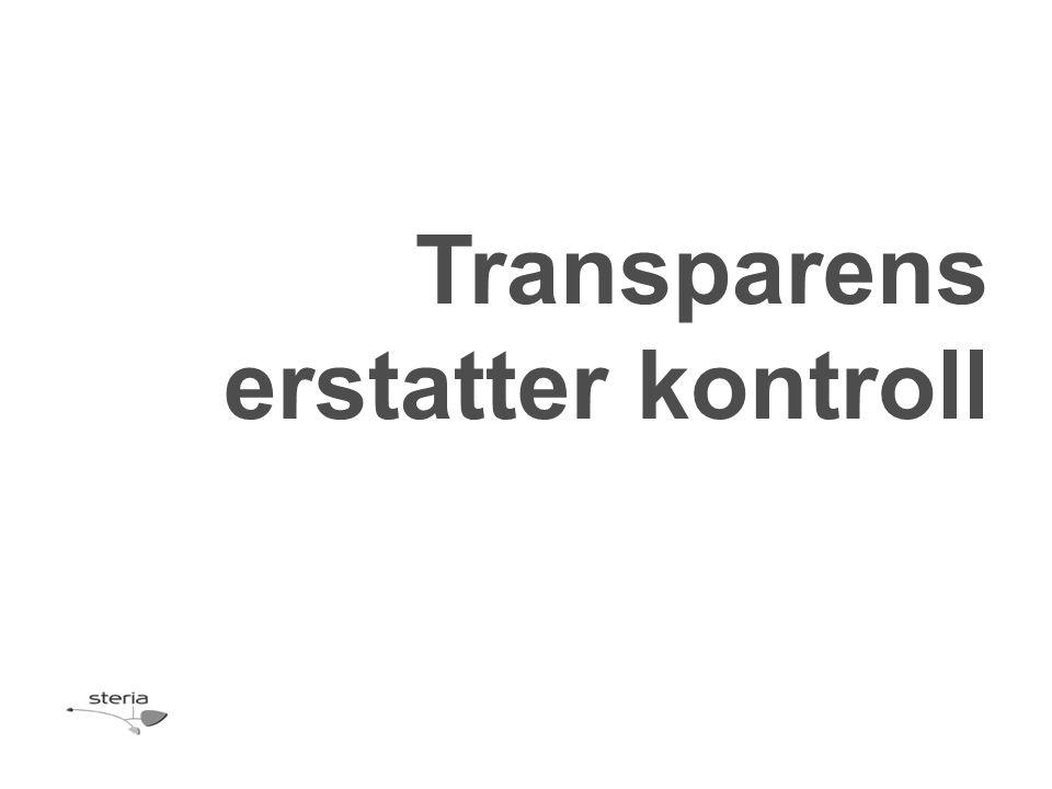 Transparens erstatter kontroll