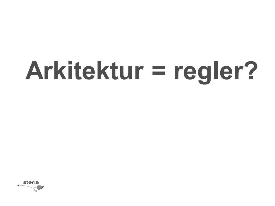 Arkitektur = regler