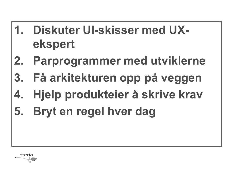 Diskuter UI-skisser med UX-ekspert