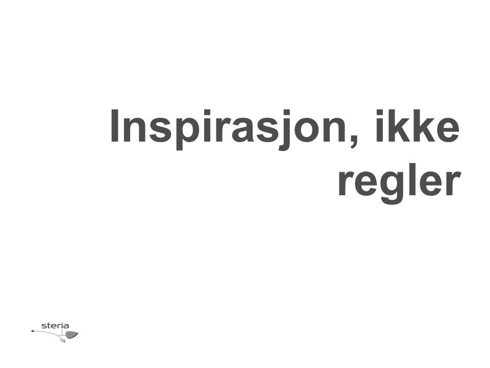 Inspirasjon, ikke regler