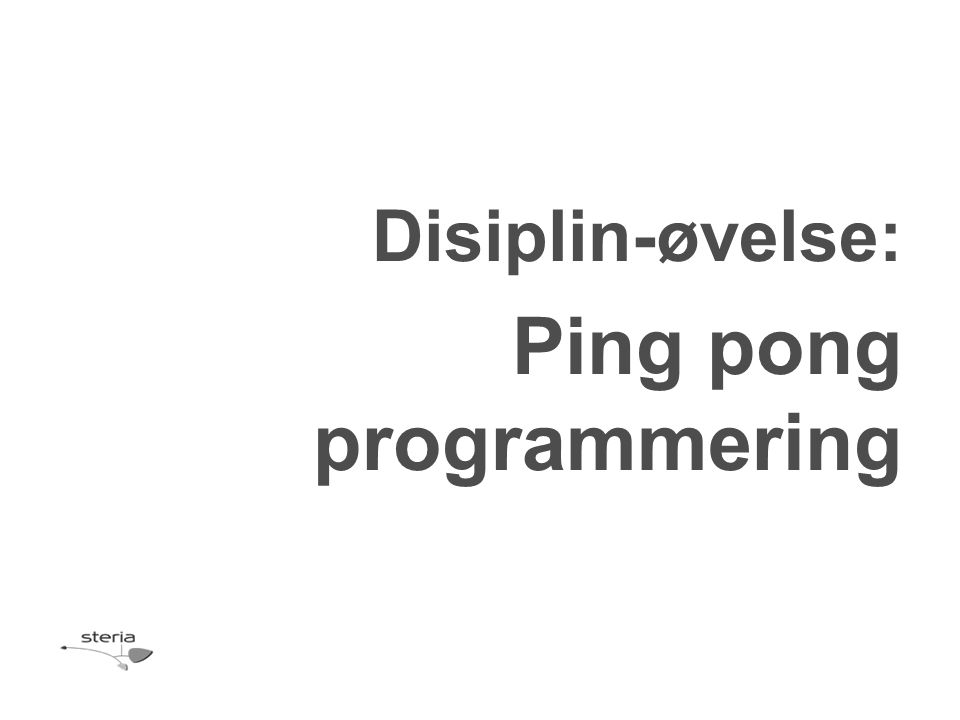 Ping pong programmering