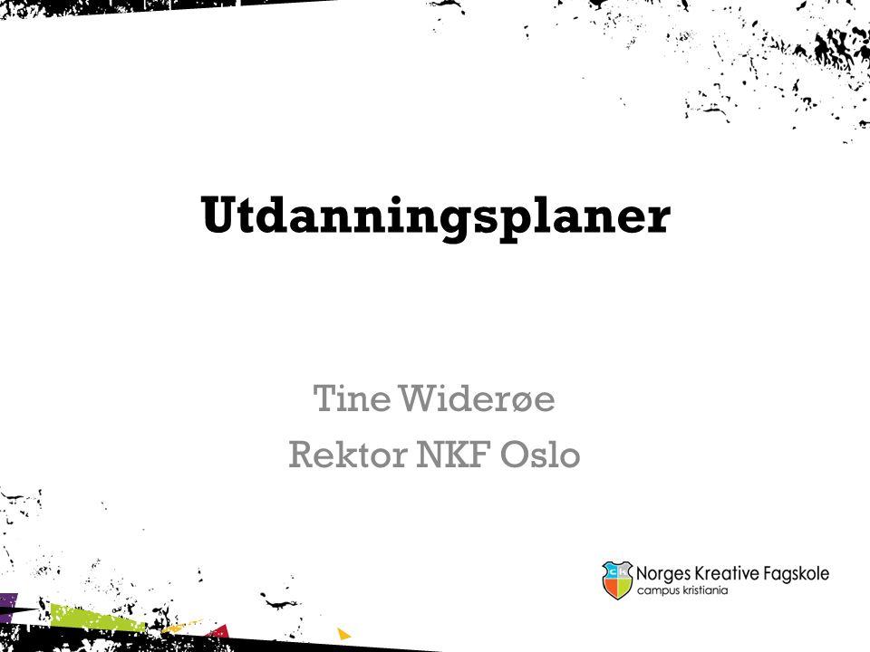 Tine Widerøe Rektor NKF Oslo