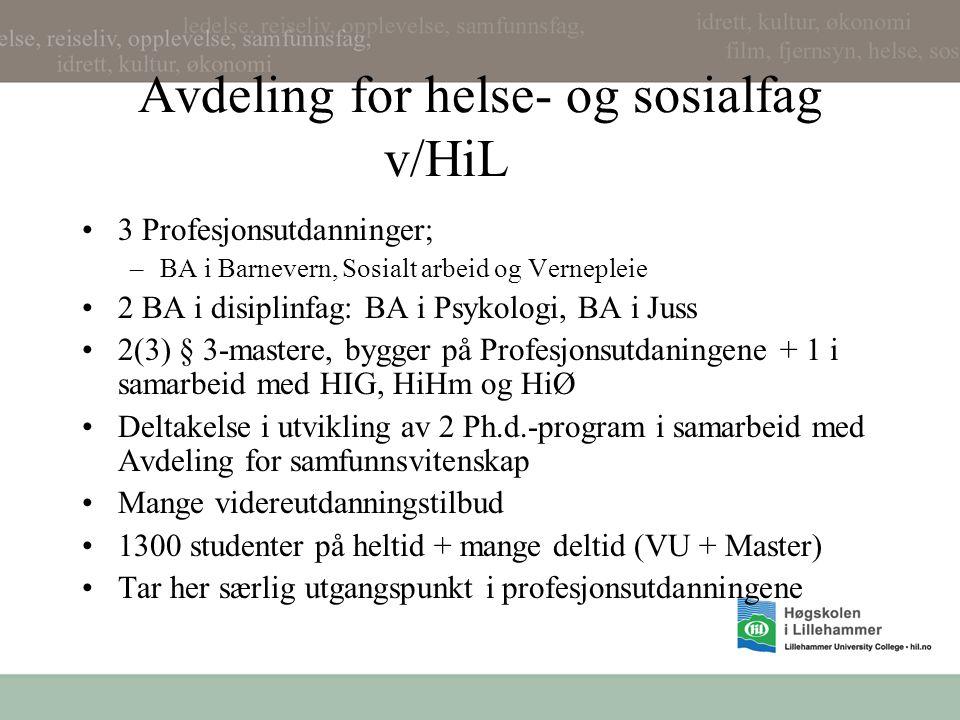 Avdeling for helse- og sosialfag v/HiL