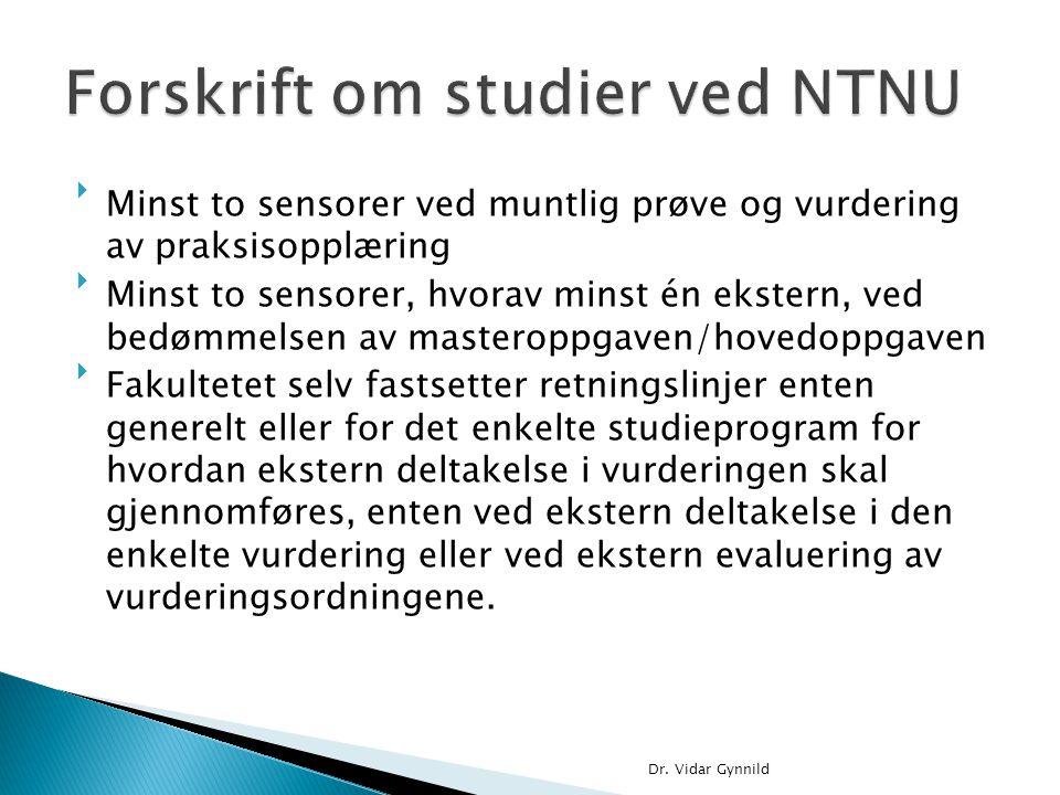 Forskrift om studier ved NTNU