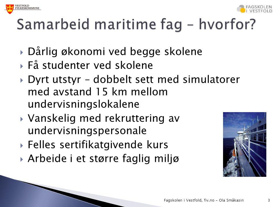 Samarbeid maritime fag – hvorfor