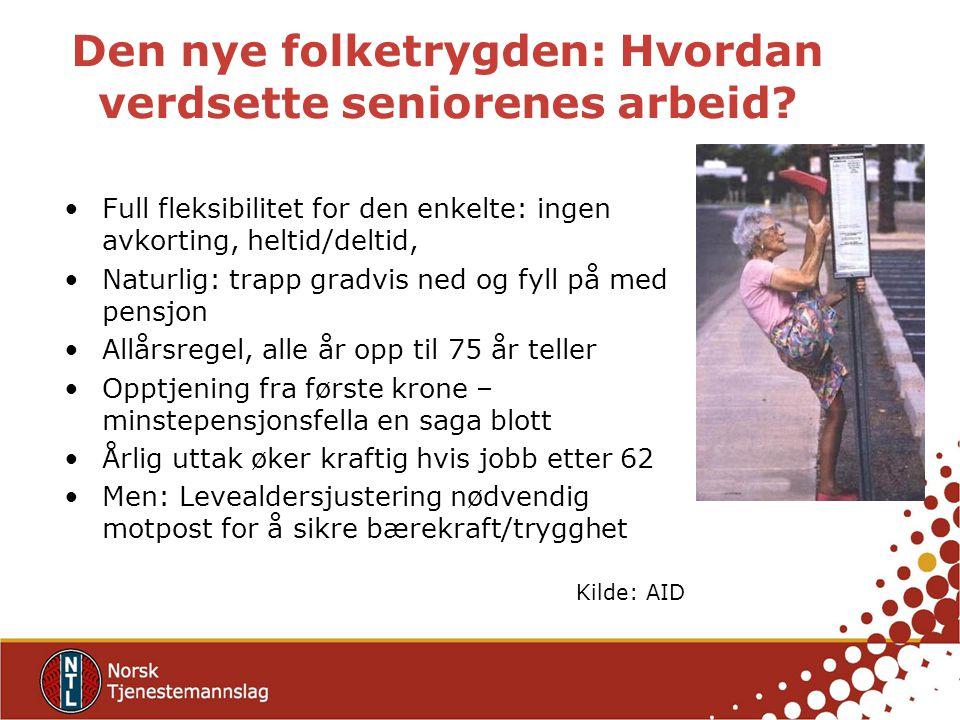 Den nye folketrygden: Hvordan verdsette seniorenes arbeid