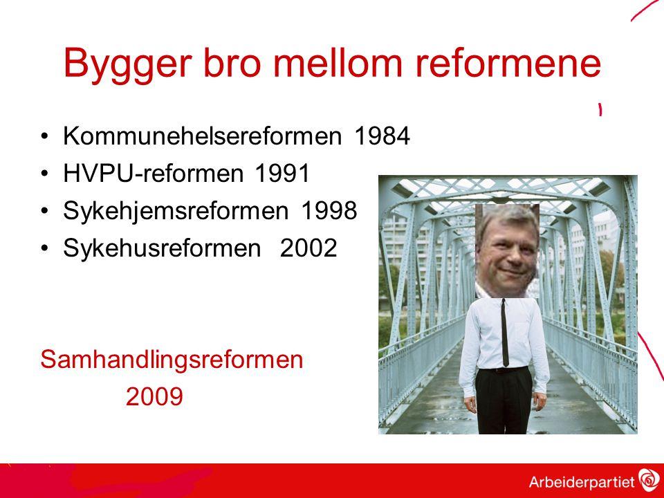 Bygger bro mellom reformene
