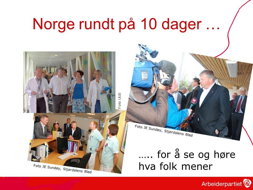 Norge rundt på 10 dager … ….. for å se og høre hva folk mener