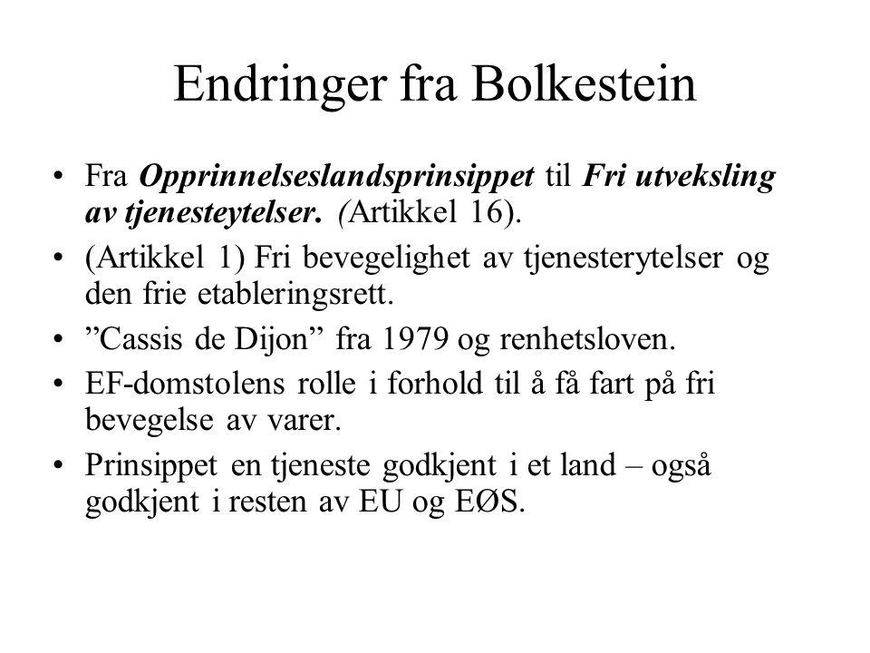 Endringer fra Bolkestein