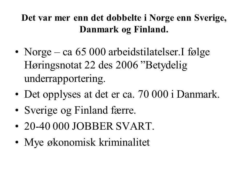 Det var mer enn det dobbelte i Norge enn Sverige, Danmark og Finland.