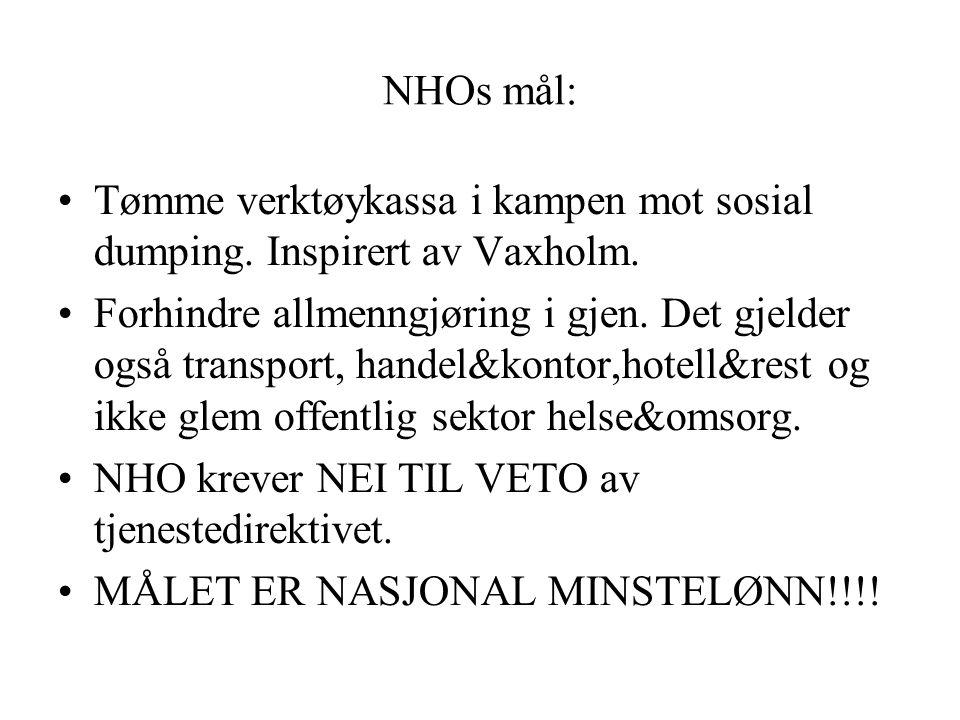NHOs mål: Tømme verktøykassa i kampen mot sosial dumping. Inspirert av Vaxholm.