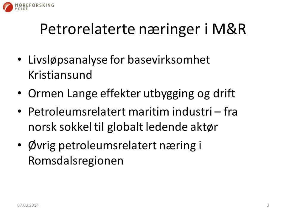 Petrorelaterte næringer i M&R