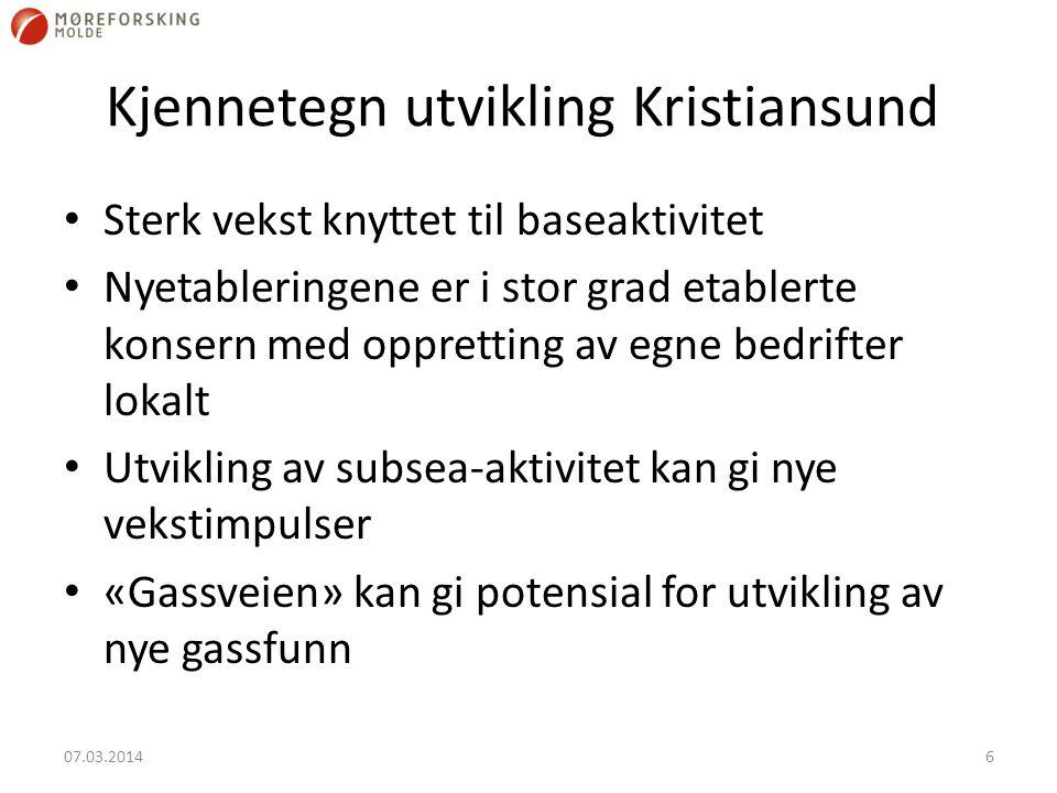 Kjennetegn utvikling Kristiansund