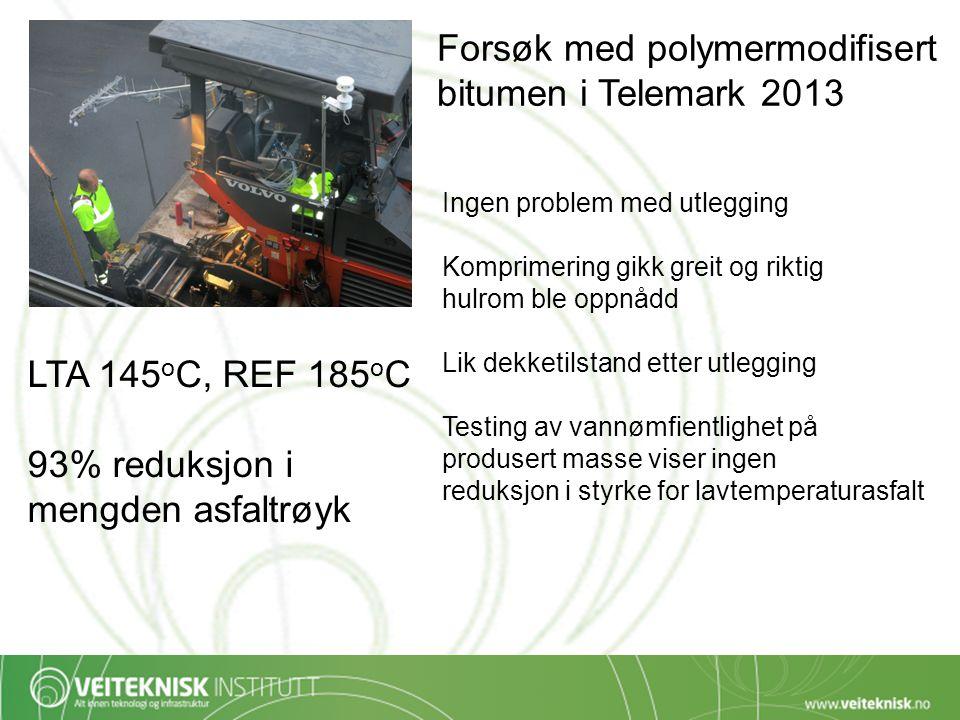Forsøk med polymermodifisert bitumen i Telemark 2013