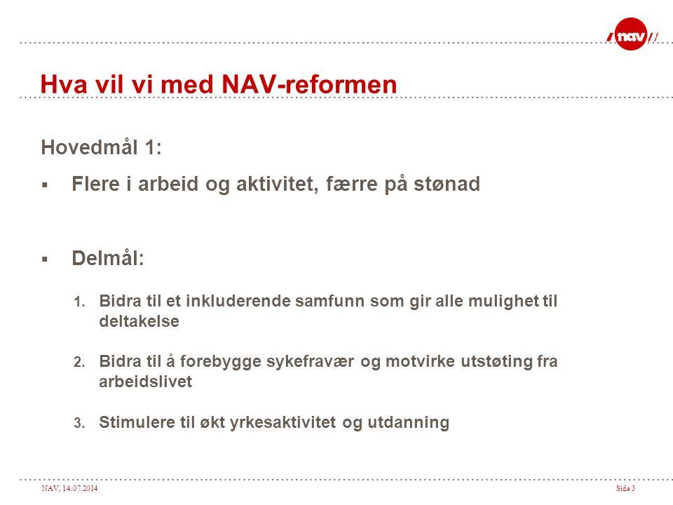 Hva vil vi med NAV-reformen