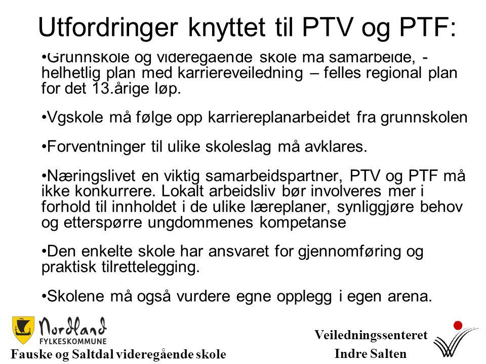 Utfordringer knyttet til PTV og PTF: