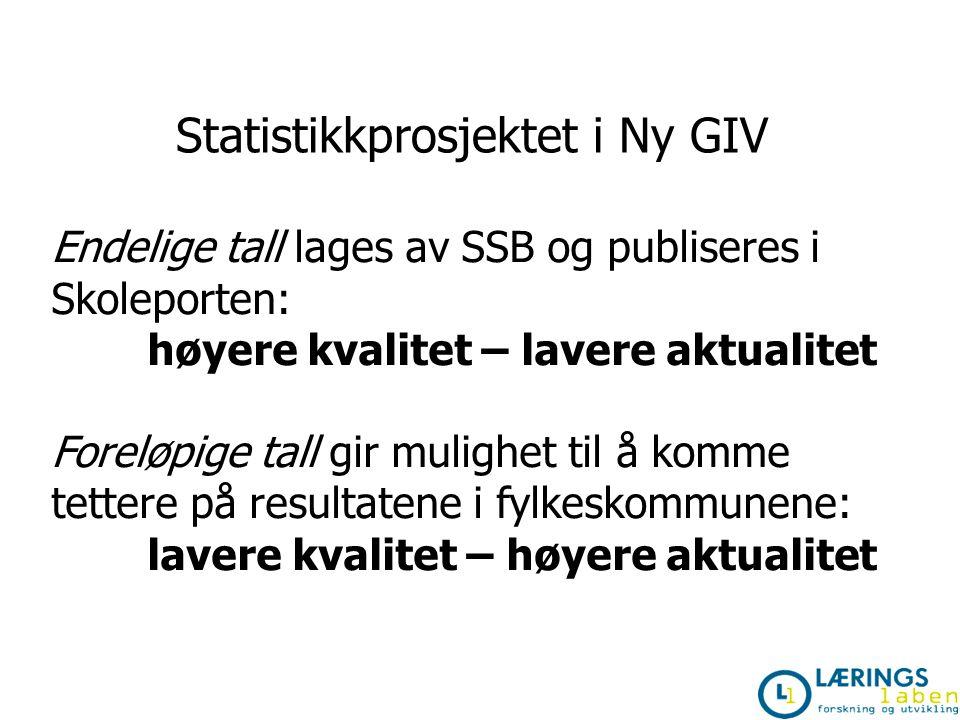 Statistikkprosjektet i Ny GIV