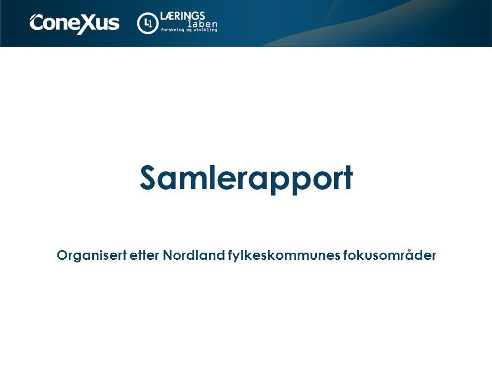 Organisert etter Nordland fylkeskommunes fokusområder