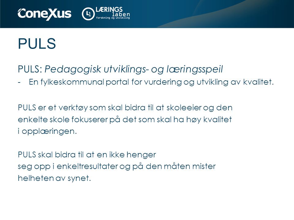 PULS PULS: Pedagogisk utviklings- og læringsspeil
