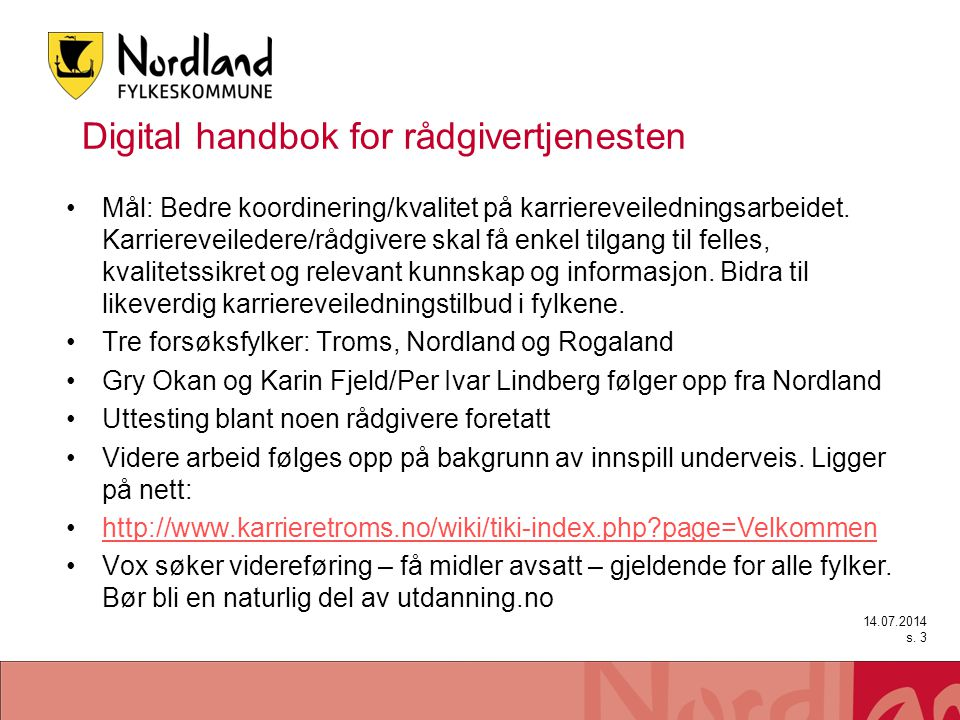 Digital handbok for rådgivertjenesten