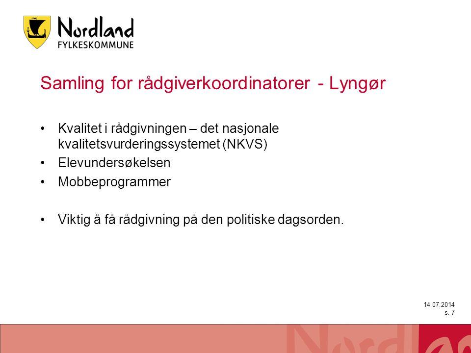 Samling for rådgiverkoordinatorer - Lyngør