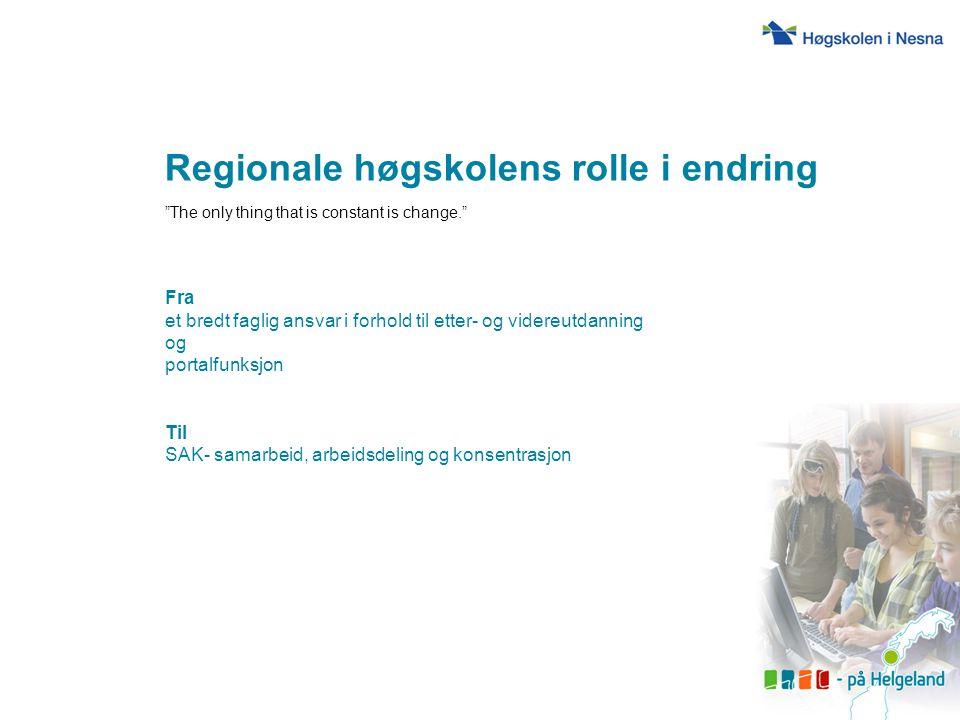 Regionale høgskolens rolle i endring