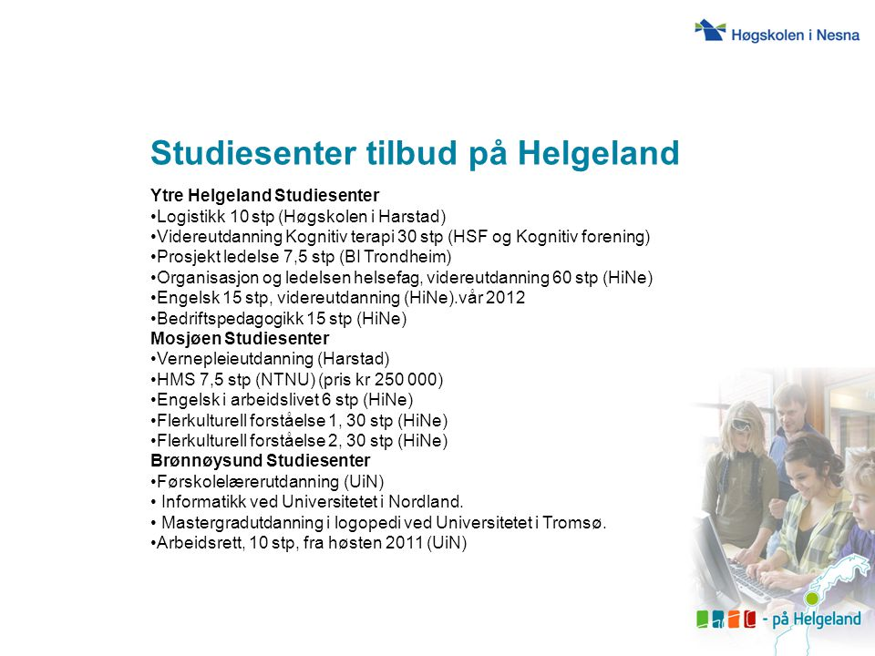 Studiesenter tilbud på Helgeland