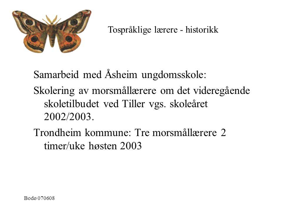Samarbeid med Åsheim ungdomsskole: