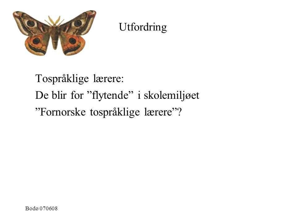De blir for flytende i skolemiljøet Fornorske tospråklige lærere