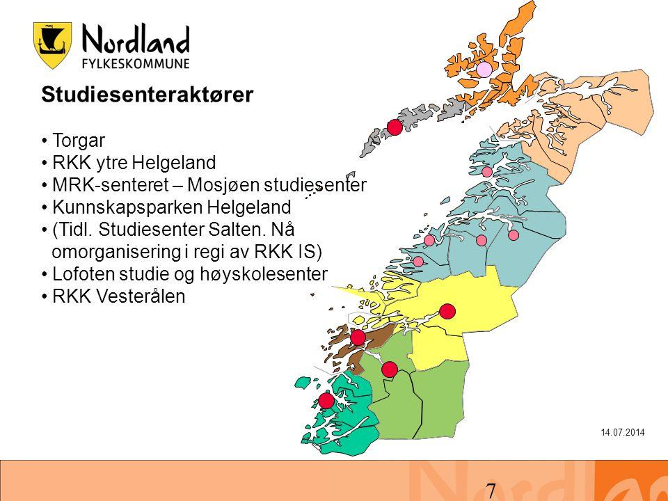 Studiesenteraktører Torgar RKK ytre Helgeland