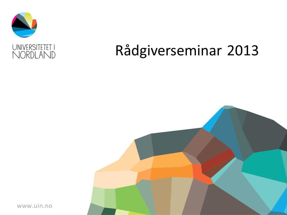 Rådgiverseminar 2013