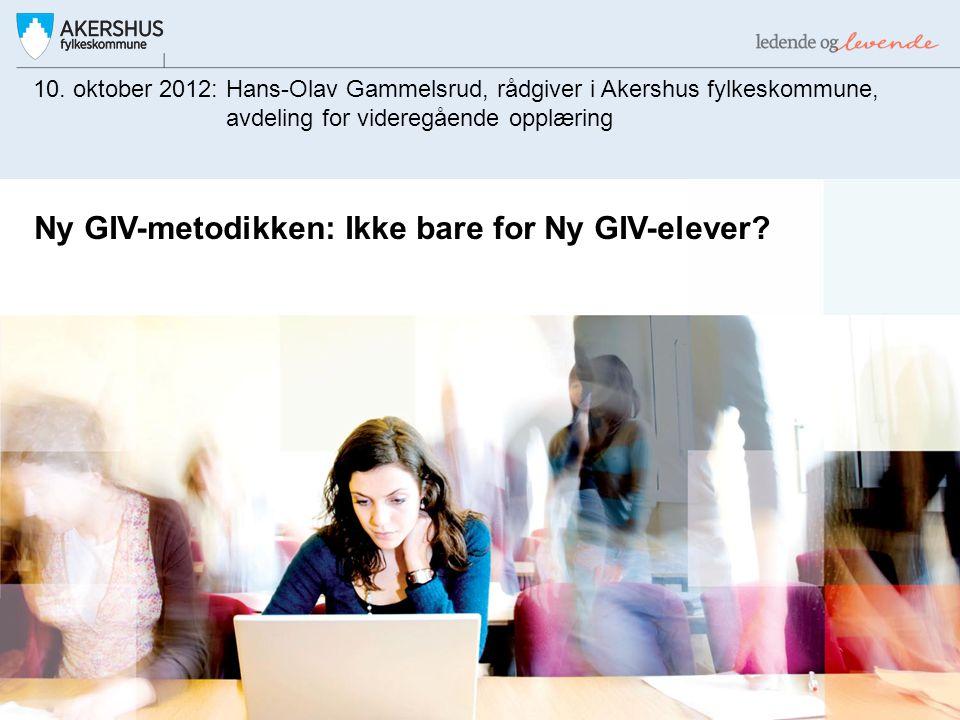 Ny GIV-metodikken: Ikke bare for Ny GIV-elever