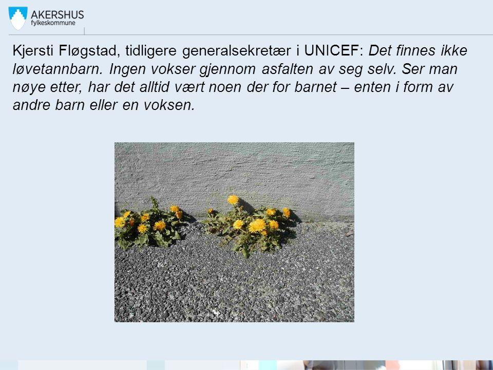 Kjersti Fløgstad, tidligere generalsekretær i UNICEF: Det finnes ikke løvetannbarn.