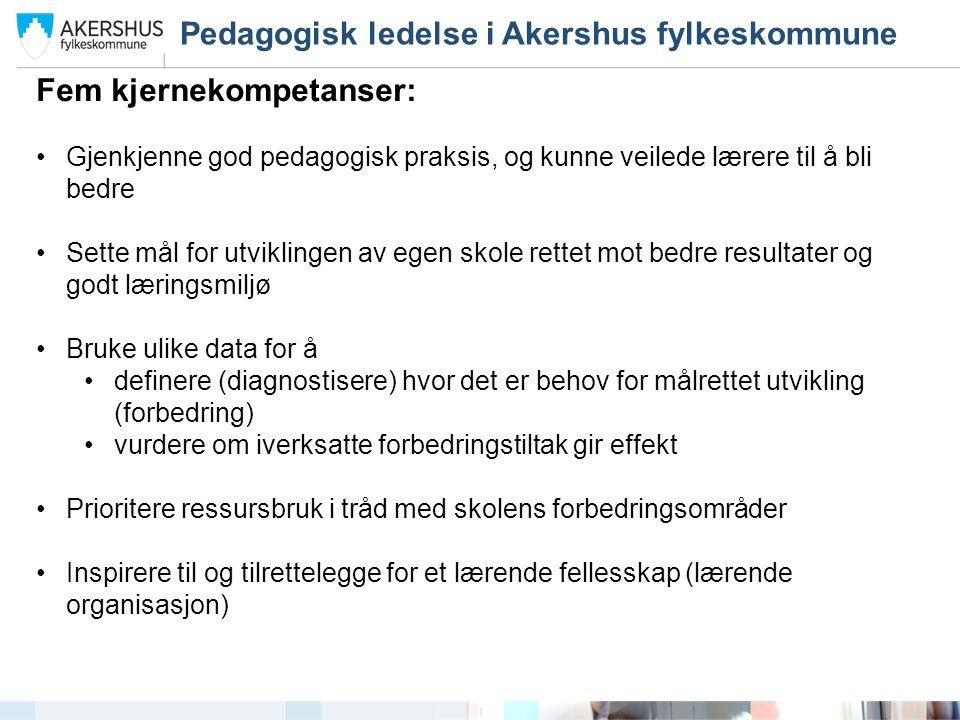 Pedagogisk ledelse i Akershus fylkeskommune