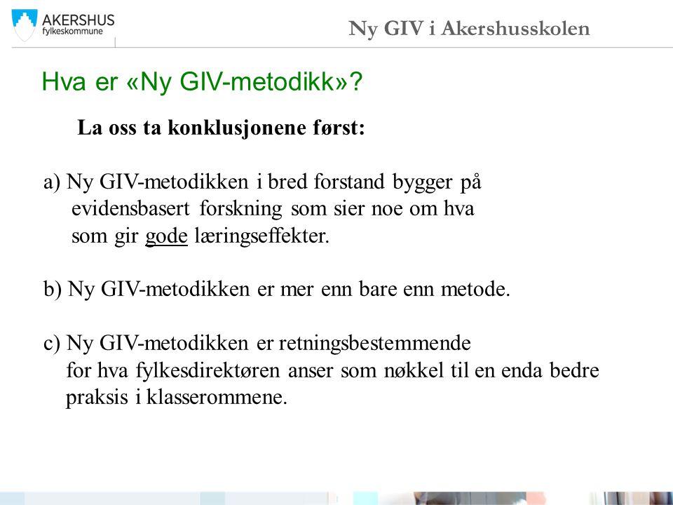 Hva er «Ny GIV-metodikk»