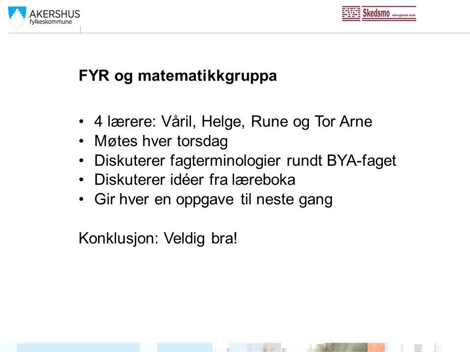 FYR og matematikkgruppa