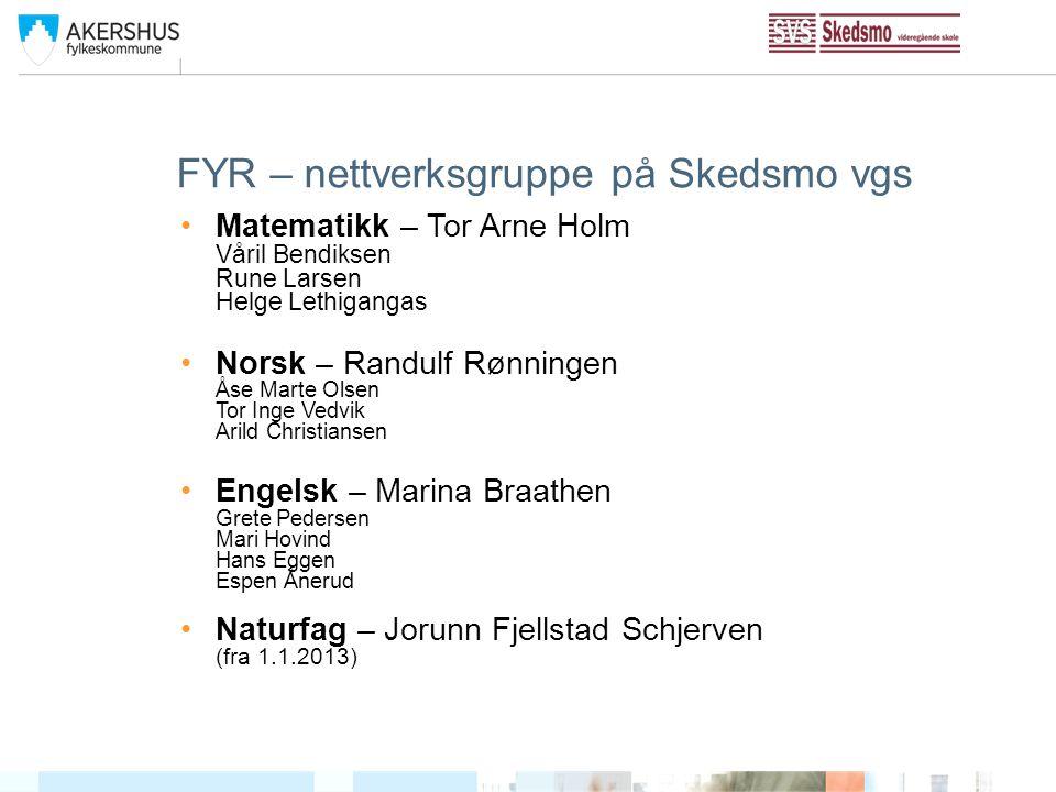 FYR – nettverksgruppe på Skedsmo vgs