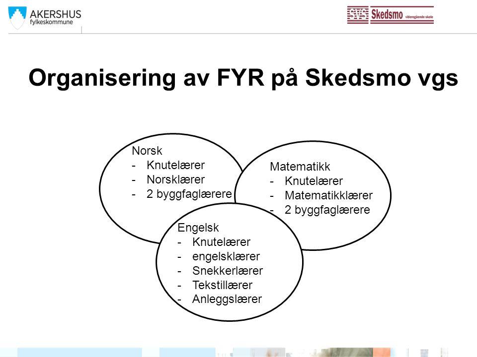 Organisering av FYR på Skedsmo vgs