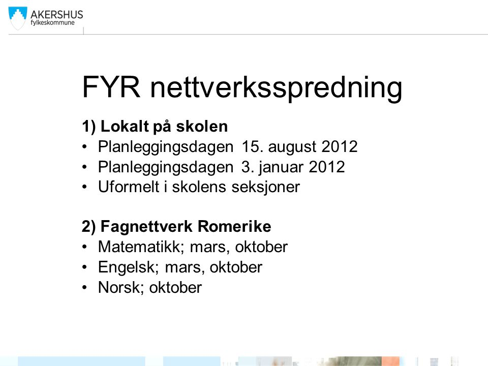 FYR nettverksspredning