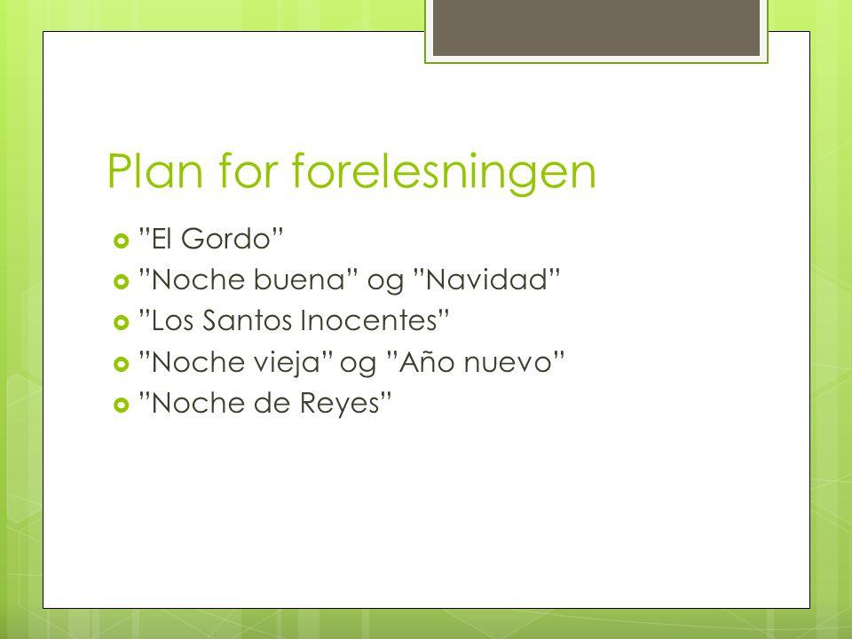 Plan for forelesningen