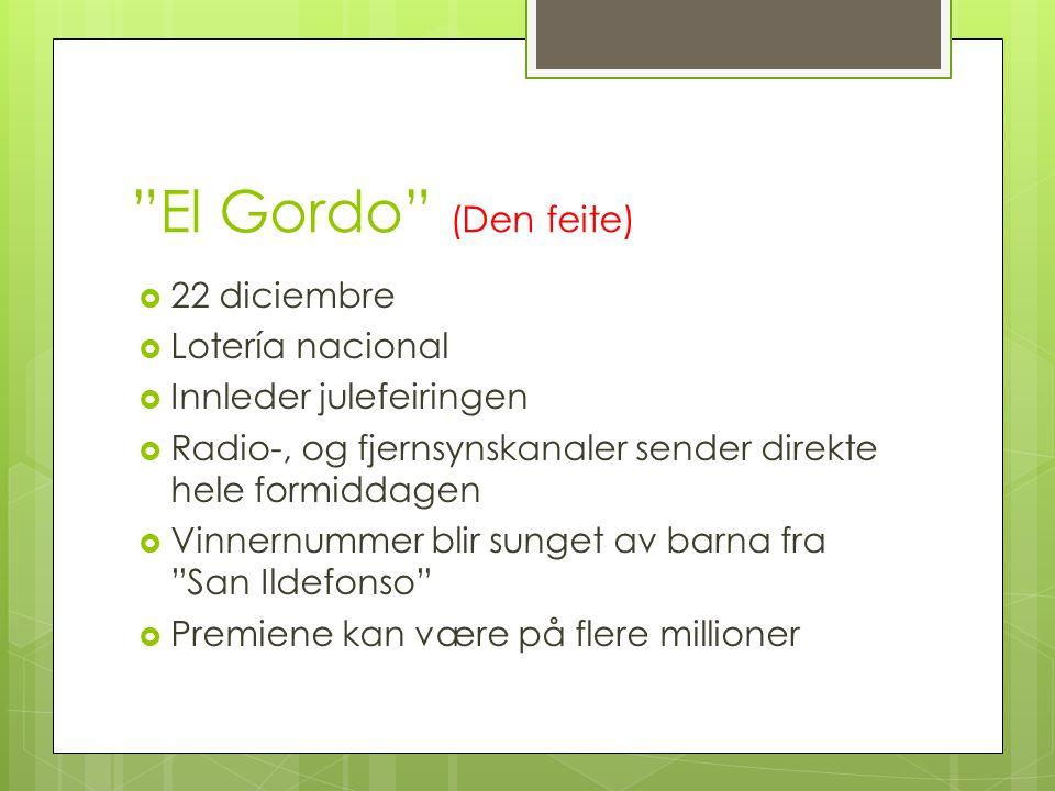 El Gordo (Den feite) 22 diciembre Lotería nacional