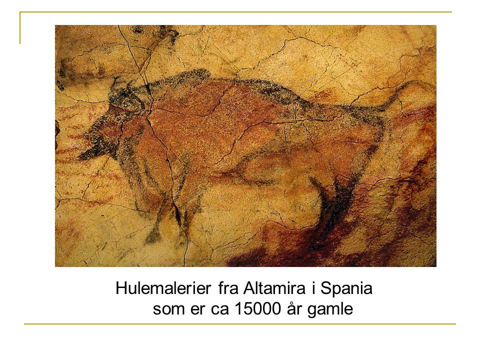 Hulemalerier fra Altamira i Spania som er ca 15000 år gamle