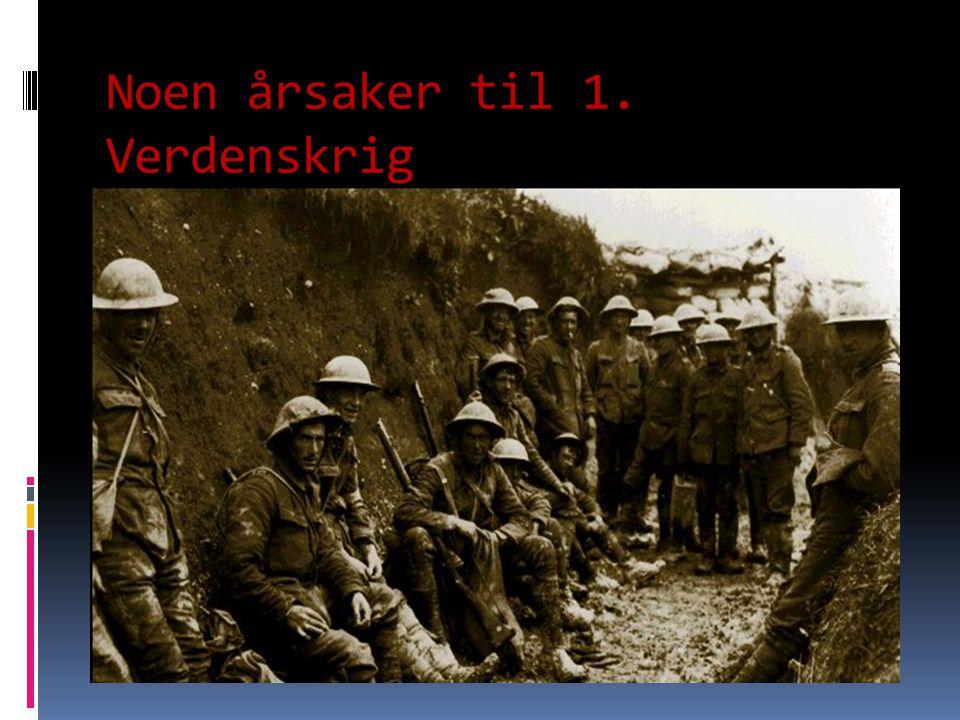 Noen årsaker til 1. Verdenskrig